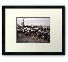 bikers meet Framed Print