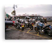 bikers meet Canvas Print