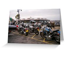 bikers meet Greeting Card