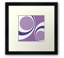 purple retro Framed Print