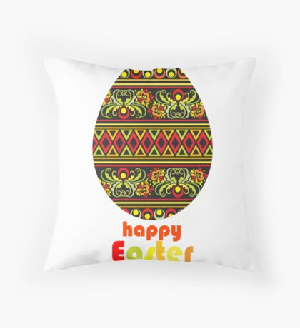 happy easter_card Throw Pillow