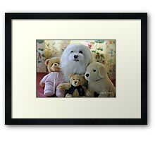 """""""Snowdrop the Maltese - """"Say Cheese Everyone"""" ! Framed Print"""