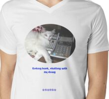 Chewie Chatting Mens V-Neck T-Shirt
