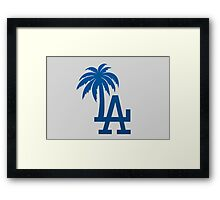 LA Palm Trees Framed Print