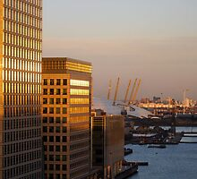 canary wharff sunset by cool3water