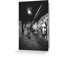 Seattle, Post Alley murals Greeting Card