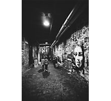 Seattle, Post Alley murals Photographic Print