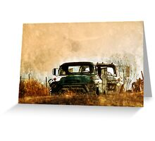GMC Truck - Over the Hill Greeting Card