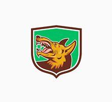 Angry Wild Dog Fangs Side Shield Retro Unisex T-Shirt