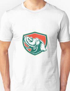 Elephant Head Tusk Shield Retro Unisex T-Shirt