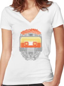 Awesome Mask Volume 1 Women's Fitted V-Neck T-Shirt
