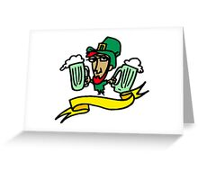 Leprechaun With Beer Greeting Card
