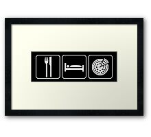 Food Sleep Pizza Framed Print