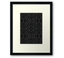 Floral Wrought Iron Framed Print
