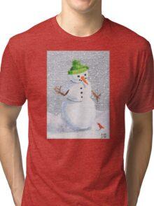 Snowman Friend Tri-blend T-Shirt