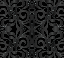 Floral Wrought Iron Sticker