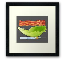 Bacon, Lettuce, and Testosterone Framed Print