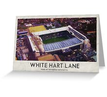 Vintage Football Grounds - White Hart Lane (Tottenham Hotspur FC) Greeting Card