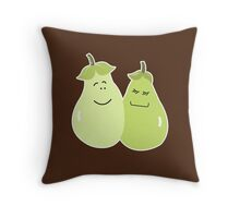 A Perfect Pear Wedding Couple Bride and Groom Throw Pillow