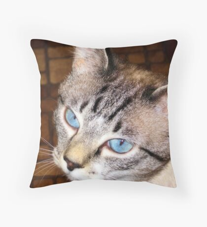 Blue Eyed Girl  Throw Pillow