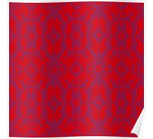 Abstract floral pattern Poster