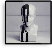 Phrenology bust. Metal Print