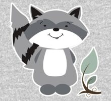 Enchanted Forest Raccoon Cartoon Animal Kids Clothes