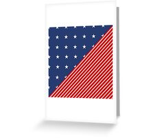 Patriotic Red and Blue American Stars and Stripes Greeting Card