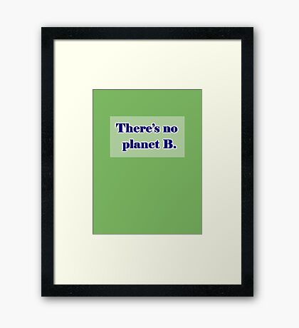 There's No Planet B Framed Print