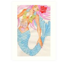 Mermaid Aquamarinna Art Print