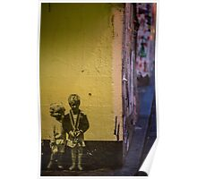 Seattle, Post Alley mural wall art Poster