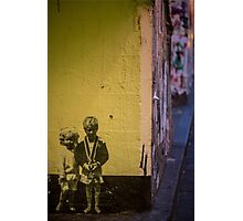Seattle, Post Alley mural wall art Photographic Print