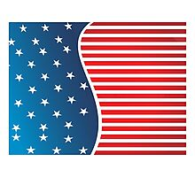 Patriotic Red and Blue American Stars and Stripes Photographic Print