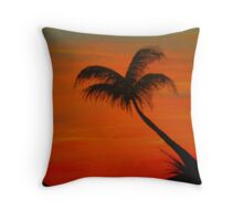 sunset painting Throw Pillow