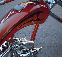 Red Motorcycle in Miami by astoriarocks