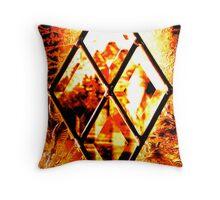 Window Pane in Amber Throw Pillow