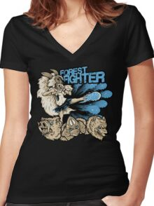 Forest Fighter Women's Fitted V-Neck T-Shirt