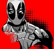 deadpool in black and white by craneone