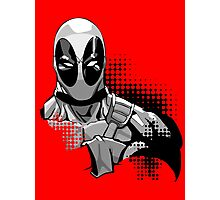 deadpool in black and white Photographic Print