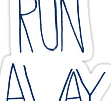 Let's Run Away: Ocean Sticker