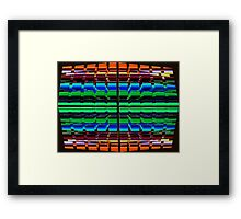 The Multi Colored Grid! Framed Print