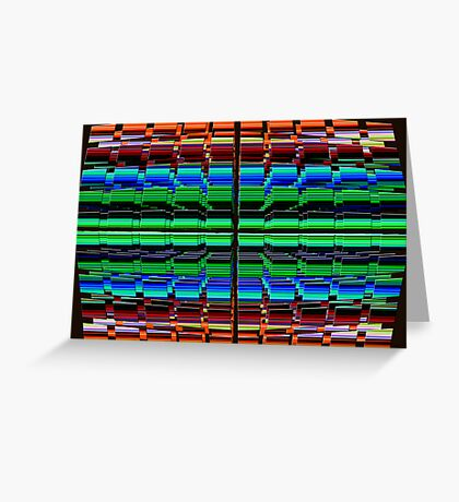 The Multi Colored Grid! Greeting Card