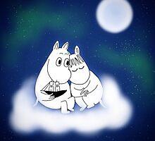 Galaxy Moomins by sophieheadon