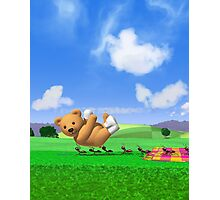 Teddy's Big Day Out - Vertica Photographic Print