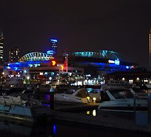 Melbourne at night - Docklands by DavidsArt