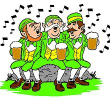 Leprechauns Singing by kwg2200