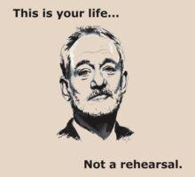 Bill Murray Life Not Rehearsal by ZSBakerStreet