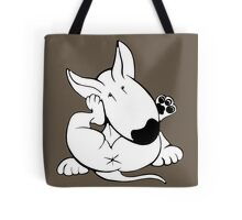 English Bull Terrier Itchy Head Tote Bag