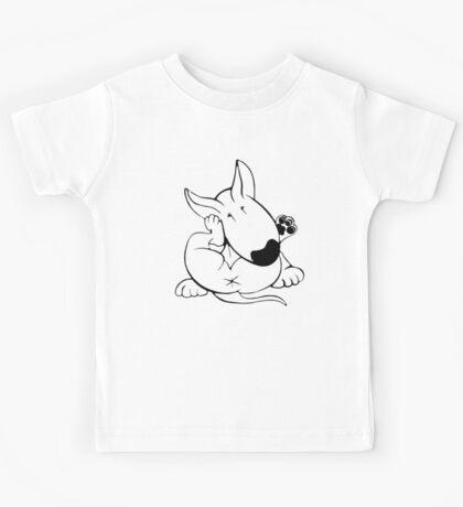 English Bull Terrier Itchy Head Kids Tee
