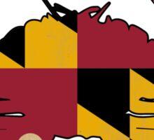 Maryland State Flag Crab VINTAGE Sticker